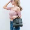 กระเป๋าถือ กระเป๋าสะพายข้างผู้หญิง งานพียู Boyy bag [สีเขียว ]