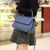 กระเป๋าคลัทช์ กระเป๋าถือแฟชั่น ลายหนังสาน Chanel COCO Handle'10 [สีน้ำเงิน ]