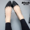 พร้อมส่ง Valentino flats B6-570-BLK [สีดำ]