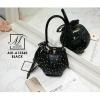 กระเป๋าถือ แฟชั่นนำเข้าสไตล์สุดหวาน AXI-A12360-BLK (สีดำ)