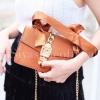 กระเป๋าสะพายแฟชั่น กระเป๋าสะพายข้างผู้หญิง ริบบริ้น [สีดำ]