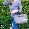 กระเป๋าสะพายแฟชั่น กระเป๋าสะพายข้างผู้หญิง ลองชอมหนัง Style [สีเทา]