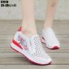 รองเท้าผ้าใบเสริมส้นสีแดง LB-ST010-RED