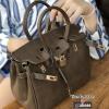 กระเป๋าสะพายแฟชั่น กระเป๋าสะพายข้างผู้หญิง สไตล์ Hermes-birkin ไซร์ 8 นิ้ว [สีน้ำตาล ]