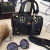 กระเป๋าสะพายแฟชั่น กระเปาสะพายข้างผู้หญิง วัสดุหนัง LYN Iconic Mini งานTop Mirror [สีดำ ]