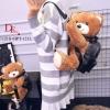 กระเป๋าเป้ตุ๊กตานำเข้าสไตส์ MOSCHINO PLUSH TEDDY BEAR BACKPACK Size L [สีดำ ]