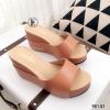 รองเท้าแตะเสริมส้นแบบสวม 981-82-ตาล (สีน้ำตาล)