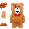 เคส iPhone 6/6s ซิลิโคนแท้ หมีสีน้ำตาล 3D