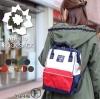 กระเป๋าเป้ผู้หญิง กระเปาสะพายหลังแฟชั่น วัสดุผ้าร่ม Style Anello งานTop Mirror ใบเล็ก [สีทูโทน ]
