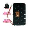 กระเป๋าใส่มือถือ/สตางค์/นามบัตร ขนาด L (สีน้ำดำ ด้านในสีชมพู)