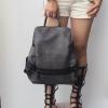 กระเป๋าเป้ผู้หญิง กระเป๋าสะพายหลังแฟชั่น BigBag ใส่ของได้เยอะ [สีดำ ]