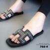 พร้อมส่ง Hermes sandal 766-4-BLK [สีดำ]