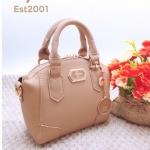กระเป๋าถือแฟชั่น กระเป๋าสะพายข้างผู้หญิง เน้นสีสันสดใส สไตล์ LYN [สีกากี ]
