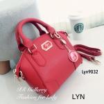 กระเป๋าถือ กระเป๋าสะพายข้างผู้หญิง วัสดุหนังพียูคุณภาพพรีเมี่ยม Lyn Alicia s [สีแดง ]