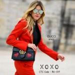 กระเป๋าสะพายแฟชั่น กระเป๋าสะพายข้างผู้หญิง Gucci 9นิ้ว ลายหัวใจ [สีดำ ]
