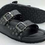 Cork sole leather sandal ( lady)