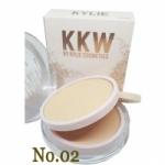kylie kkw powder แป้งพัพไคลลี่ 2 ชั้น ผสมรองพื้น (No.02) ผิวเหลือง