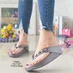 รองเท้าแตะพื้นสุขภาพสีเทา สไตล์ YT122-GREY