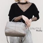กระเป๋าสะพายแฟชั่น กระเป๋าสะพายข้างผู้หญิง งานGlow หนังพียูนิ่ม จะถือก็สวยสะพายก็สวย [สีทอง ]