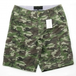 Light Green Camo Cargo Shorts for Men - size 34
