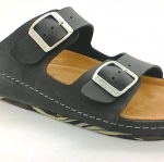 Cork sole leather sandals(men)