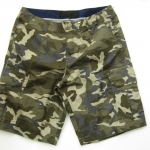 Brown Camo Cargo Shorts for Men - size 34