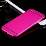 เคส iPhone 5/5s อลูมิเนียม+อะคริลิค ฝาหลัง (สีชมพู)