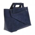 กระเป๋าสะพายแฟชั่น กระเป๋าสะพายข้างผู้หญิง กระเป๋าดีไซด์เก๋ เอนกประสง ถือก็ได้สะพายก็เท่ หนังPU [สีกรม ]