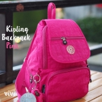 กระเป๋าเป้สะพายหลัง ก็อปแบรนด์ดัง Kiplingสีแจ่มเฟร่อ [สีชมพู ]