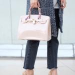 กระเป๋าถือ กระเป๋าคลัทช์ หนังซิลิโคนนิ่ม Birkin Toy [สีนู๊ด ]