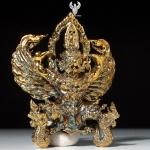 พญาครุฑ รุ่น จอมราชันย์ เนื้อสัมฤทธิ์ผิวไฟ ครูบาแบ่ง วัดโตนด จ.นครราชสีมา