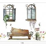 Wall Sticker ลายเก้าอี้ริมหน้าต่าง