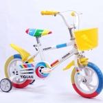 """จักรยานเด็กรุ่นใหม่ ขนาดวงล้อ 10"""" สีเหลือง"""