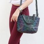 กระเป๋าสะพายแฟชั่น กระเป๋าสะพายข้างผู้หญิง Barel mini logo ลายเพชร [สีรุ้ง ]