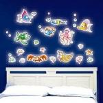Wall Sticker เรืองแสง ลายสัตว์ทะเล