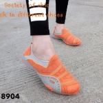 พร้อมส่ง รองเท้าผ้าใบแฟชั่นสีส้ม ไร้เชือก สไตล์ Sport Girls แฟชั่นเกาหลี [สีส้ม ]