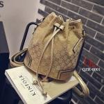 กระเป๋าสะพายหลังแฟชั่น กระเป๋าสะพายไหล่ ทรงขนมจีบแฟชั่น Style Gucci [สีทอง ]