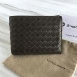 Bottega veneta bifold wallet w/coin purse Dark brown