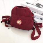 กระเป๋าสะพายข้างแฟชั่น วัสดุผ้าร่ม Style Kipling [สีเลือดหมู ]