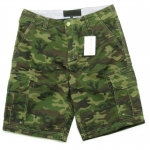 Green Camo Cargo Shorts for Men - size 34