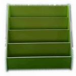 ชั้นวางหนังสือไม้อย่างดี สีเขียว