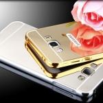 เคส A7 A7000 กรอบอลูมิเนียม+ฝาหลังอะคริลิค สะท้อน (สีทอง/เงิน/ดำ/ชมพู)