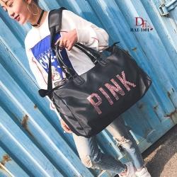 กระเป๋าแฟชั่นนำเข้า ปักเลื่อม PINK Style Victoria's secret BAI-1901-BLK (สีดำ)