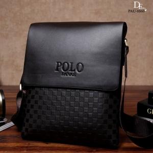 กระเป๋าสะพายแฟชั่น กระเป๋าสะพายข้างแฟชั่น Style POLO [สีดำ ]