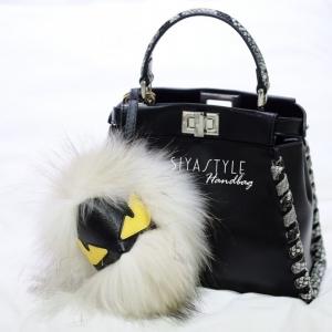สายสะพายกระเป๋า Fendi Monster [สีขาว]