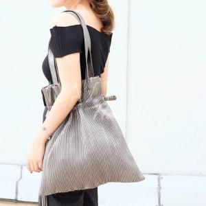 กระเป๋าสะพายแฟชั่น กระเป๋าสะพายข้างผู้หญิง สะพายข้างอัดพีท [สีทอง]