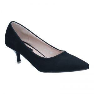 พร้อมส่ง รองเท้าส้นเตี้ย K9052-BLK [สีดำ]