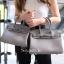 พร้อมส่ง กระเป๋าสะพายข้างผู้หญิง BK super 25 cm [สีเทา ] thumbnail 3