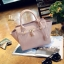 กระเป๋าถือแฟชั่น กระเป๋าสะพายข้างผู้หญิง หนัง PU คุณภาพดี มาพร้อมสายสะพาย [สีชมพู ]