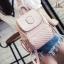 กระเป๋าเป้ผู้หญิง กระเป๋าสะพายหลังแฟชั่น ดีไซน์น่ารัก สไตล์เกาหลี [สีชมพู ]